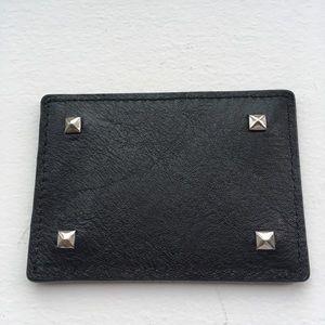 Rebecca Minkoff black mirror for cosmetic bag